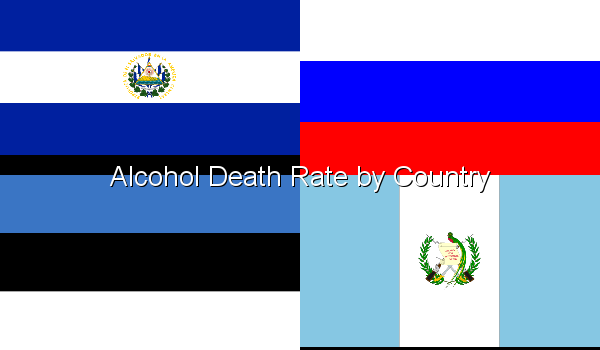 Alcohol Death Rate by Country