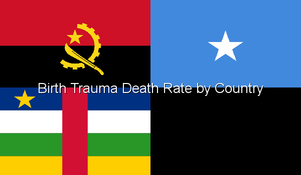 Birth Trauma Death Rate by Country