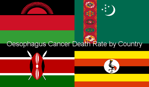 Oesophagus Cancer Death Rate by Country