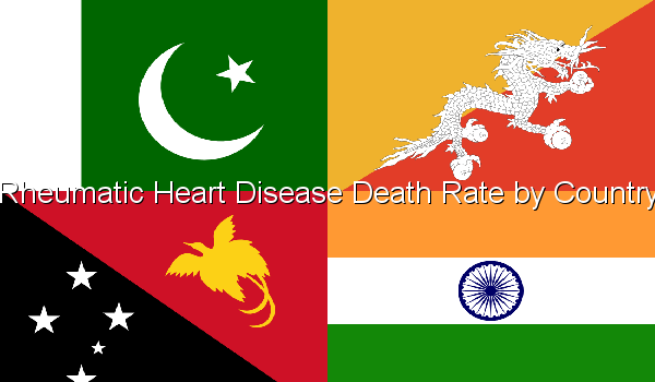 Rheumatic Heart Disease Death Rate by Country